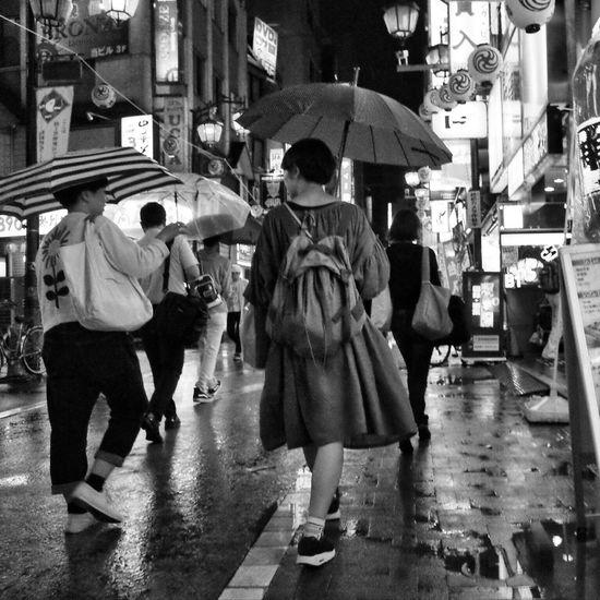 Night Night Lights Nightphotography The Street Photographer - 2016 EyeEm Awards City Street City Life People Streetphotography_bw Snapshot On The Road B&w Street Photography Rain Rainy Days Kichijoji 吉祥寺 , Tokyo Japan