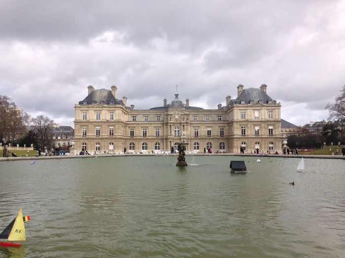 Jardin du Luxembourg in Paris, France Architecture Built Structure City City Life Cloud Cloud - Sky Cloudy Day Façade France French Jardin Jardin Du Luxembourg Nature Outdoors Overcast Paris Park Sky Tourism Tourist Travel Destinations Water Waterfront Weather