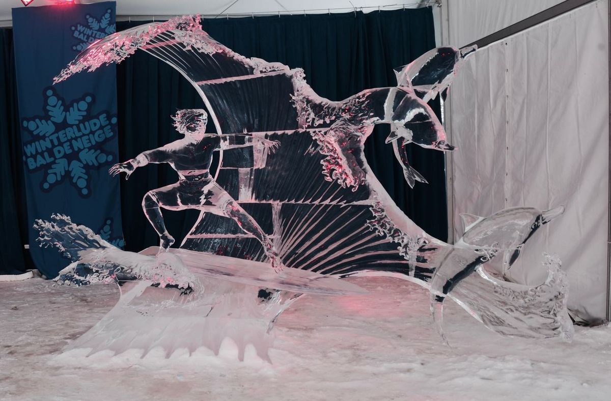 Winterlude Canada Confederation Bridge Ice Sculpture Indoors  Internation Ice Sculpture Competiton No People Ottawa Surfs Up Winter Festival Winter Festival 2016 Winterlude