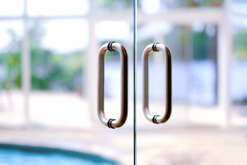 Full frame shot of glass doors