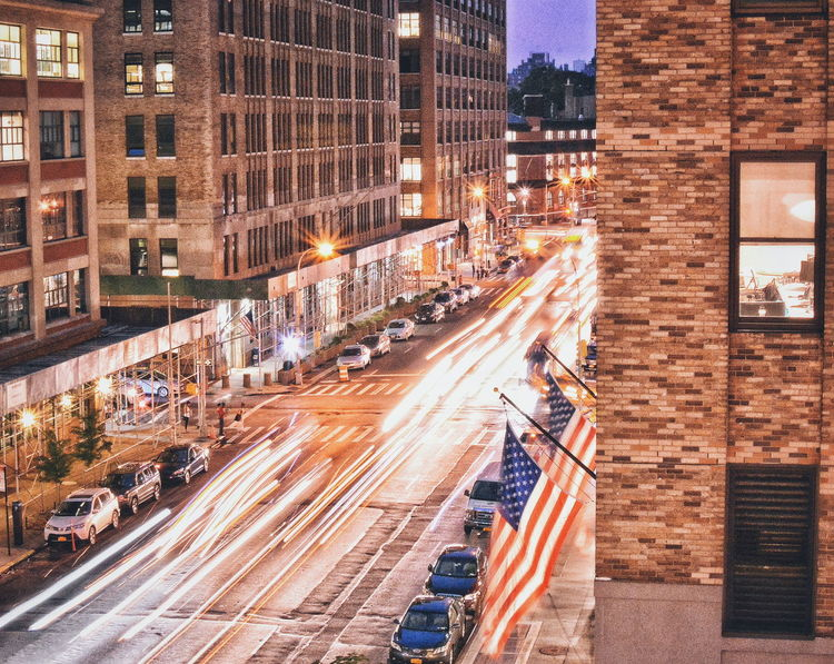 Escape from NY Architecture Building City City Life City Street Light Trails Long Exposure New York City Newyork No People NYC
