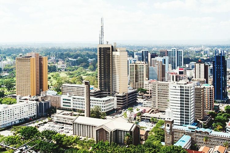 Skyscraper City Cityscape Modern Architecture Urban Skyline Sky Travel Destinations High Angle View Downtown District Aerial View Building Exterior Tower Business No People Business Finance And Industry Tree Outdoors Cloud - Sky Futuristic 254 Nairobi Kenya