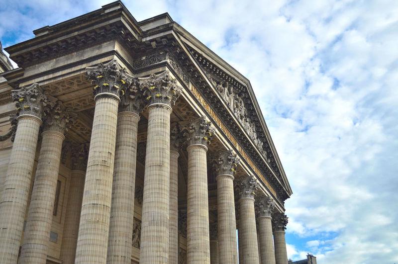 Architectural Column Architecture Architecture Architettura Colonne Columns Detail Dettaglio Famous Place France Francia Pantheon Parigi Paris Perspective
