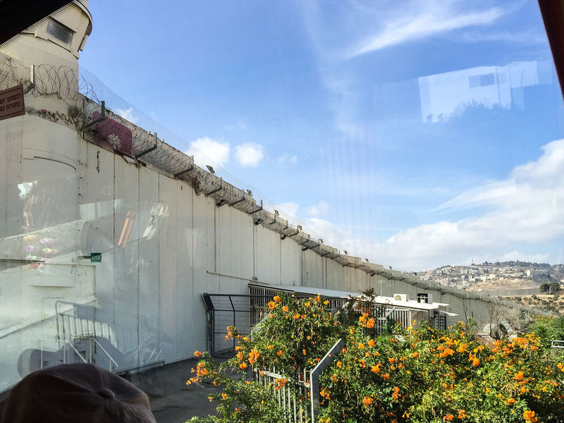 Separation wall between Jerusalem, Israel and Bethlm, Palestine Barrier Bethlehem Check Point Israel Jerusalem Occupied Palestine Palestinian Security Separate Separation Tower Wall West Bank