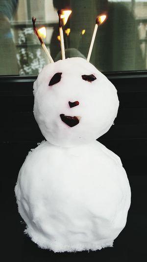 Snowman⛄ Snowcake HappyAnniversary 5thyear Zermatt Switzerland Awesometrip Winterholiday Romanticboyfriend Toblerone Mountain