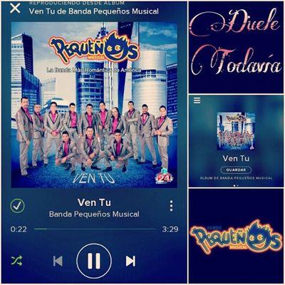 VenTu DueleTodavia Yo ya escucho el nuevo sencillo de @pequenosmusicaloficial por Spotify ... y tú? :D