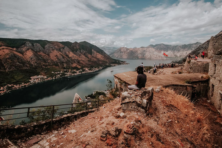 Kotor Travel Sky Nature Day Outdoors Water Mountain Cloud - Sky Scenics - Nature Beauty In Nature Built Structure Architecture Mountain Range Lake No People Non-urban Scene Rock Tranquility Tranquil Scene Solid