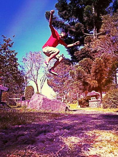 Saya melompat agar saya tau rasanya diatas dan jatuh..