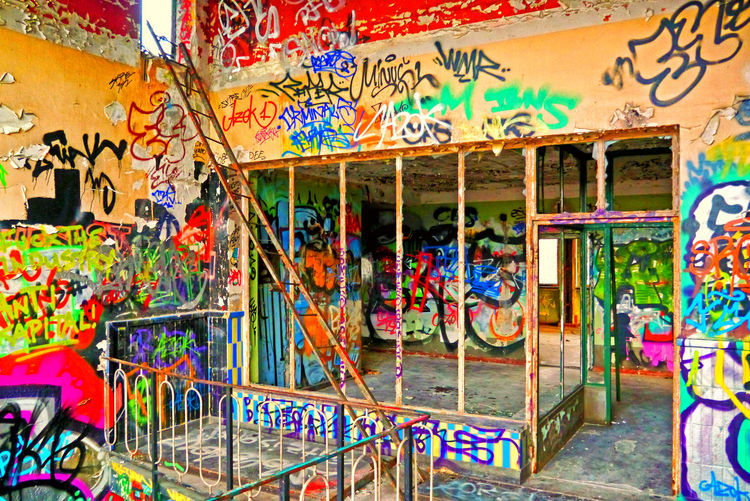 Abandoned Berlin Streetart Colorful Creativity DB Graffiti No People Old Pankow Heinersdorf Railroad System Urbanex Vandalism