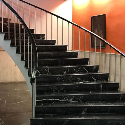 Stairs Staircase Steps And Staircases Steps Railing Stairs Spiral Hand Rail Spiral Staircase Architecture Built Structure Spiral Stairs Stairway No People Indoors  Day Hotel Retro 70s Architecture Painting Marble Stairs