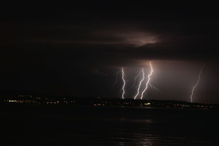 Langenargen Schweizer Küste Blitz Unwetter Long Exposure Langzeitbelichtung