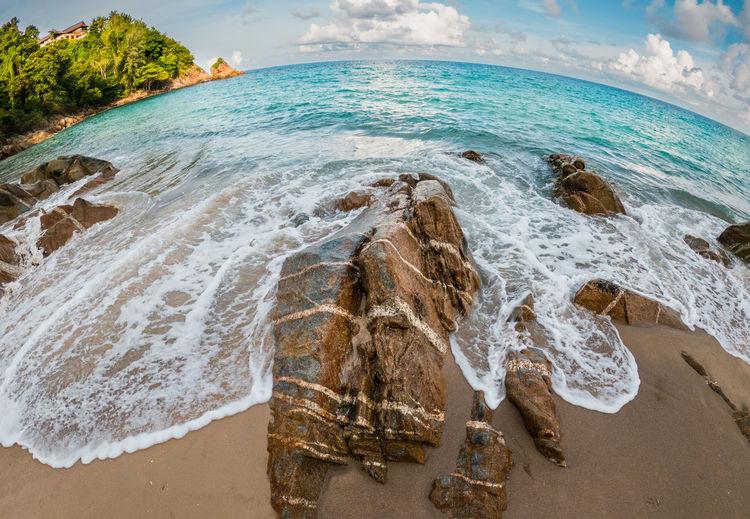 Panoramic view of sea shore
