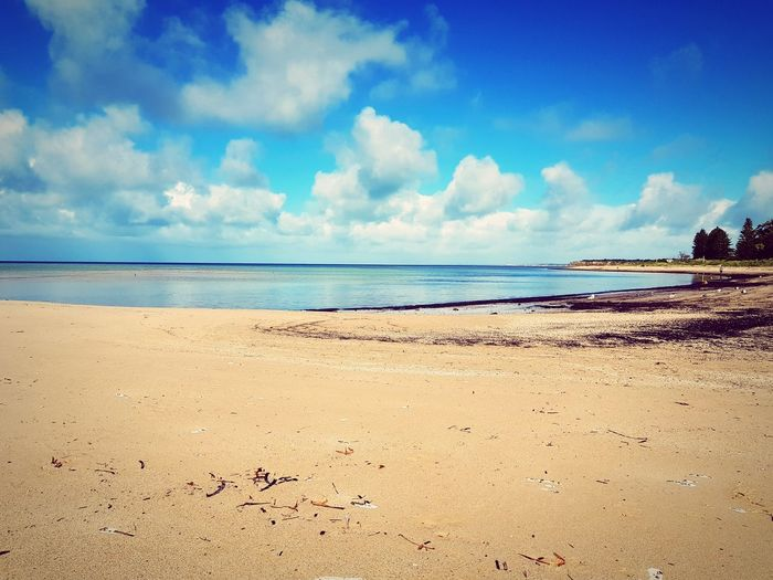 Beach Sand Sea Sky Cloud - Sky Nature Tranquility Outdoors Water Scenics Horizon Over Water Travel Destinations Day Tranquil Scene Blue Low Tide Vacations Landscape Beauty In Nature No People Breathing Space Lost In The Landscape
