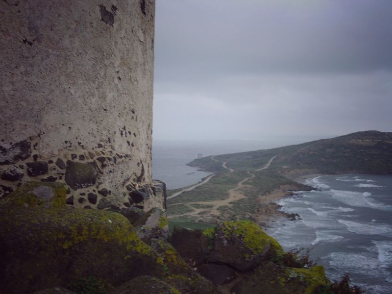 Tower in Tharros Antik Island Sardinia Sardegna Römisch Tower Italy Tharros Sea Water Nature Rock - Object Sky Beach No People