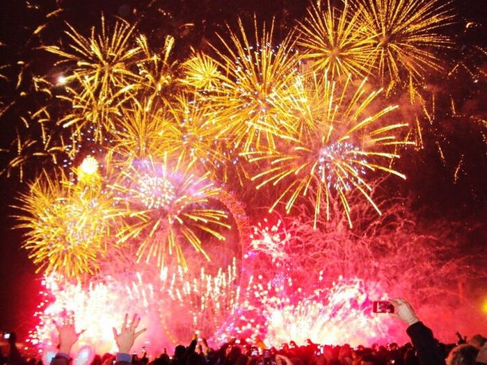2011 Celebration Firework Fun New Years Eve ^.^ LondonEye