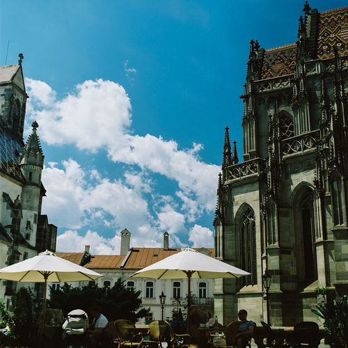 View of cathedral in city