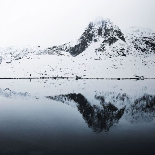 Seven Rila Lakes, Bulgaria. Reflection Water Scenics Nature Mountain Lake Tranquil Scene Beauty In Nature Tranquility Outdoors No People Day Snow Cold Temperature Winter Clear Sky Sky