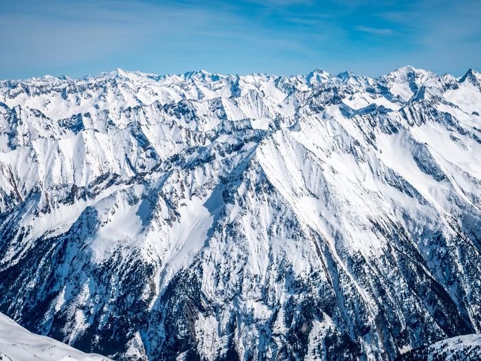 EyeEm Selects Winter Snow Cold Temperature Nature Beauty In Nature Scenics - Nature Mountain Snowcapped Mountain Landscape No People Frozen Environment Outdoors White Color Sunlight Ice Sky Blue