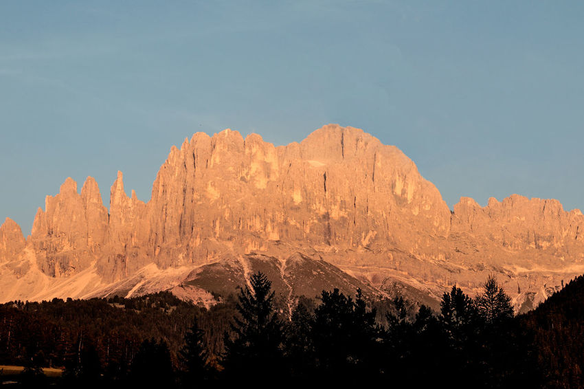 Flaming enrosadira or Catinaccio Antermoia Beauty In Nature Catinaccio Dolomites Dolomites, Italy Enrosadira Flaming Sunset Italy Mountain Nature Outdoors Rosengarten Rosé Sunset Torri Del Vaiolet Rock Bolzano