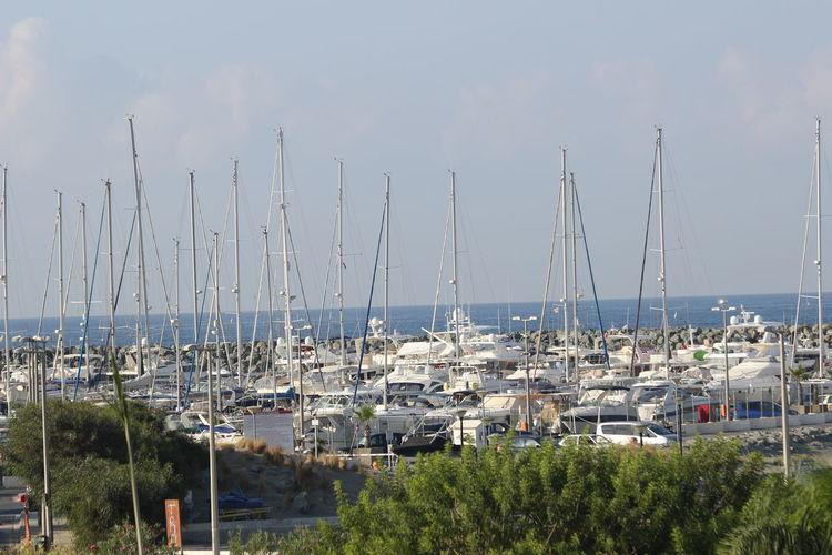 Yachts Architecture Day Harbor Luxury No People Outdoors Sailboat Scenics Sea Sea And Sky Sky Tree Yacht