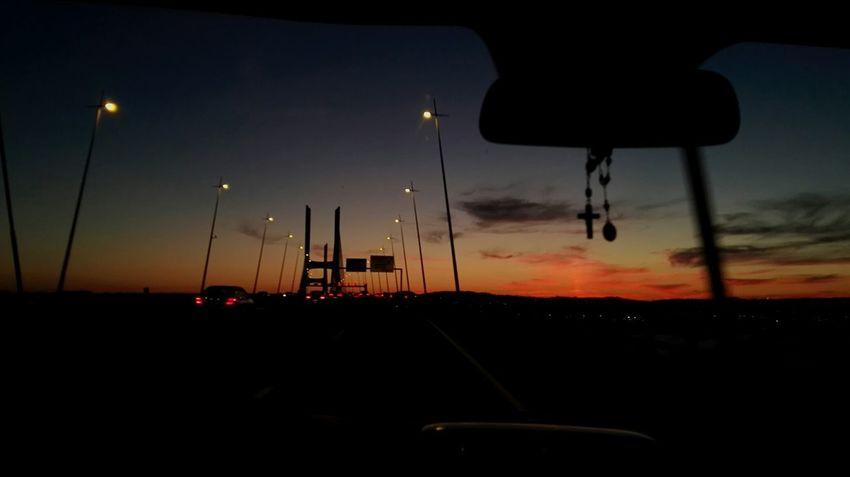 Sunset Beautiful Day Nature Bridge Ponte Vasco Da Gama Portugal