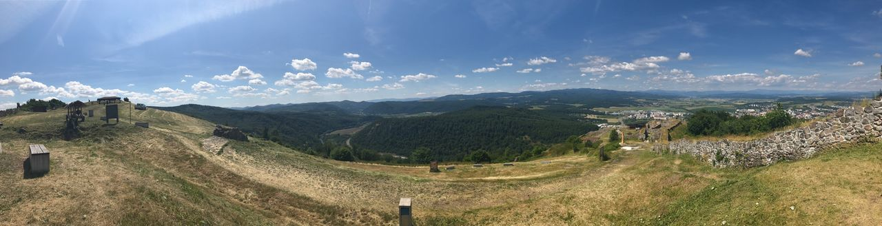 Pustyhrad Landscape Mountain Nature Sky Beauty In Nature No People Grass Outdoors Day