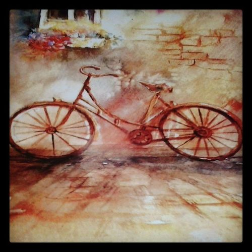 Cycle Frame Imissmycycle Memories Readymade Painting Wallhanging Colourful Colours Beautiful Love Instapic Instagram Instamumbai Instadaily Toomanyhashtags