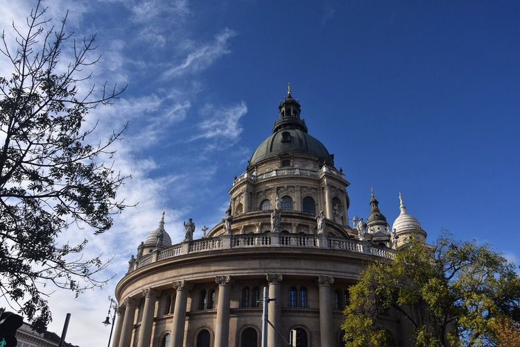 Building Exterior Low Angle View Architecture Built Structure Sky Dome No People Tree Outdoors Place Of Worship Day City Budapest Spirituality