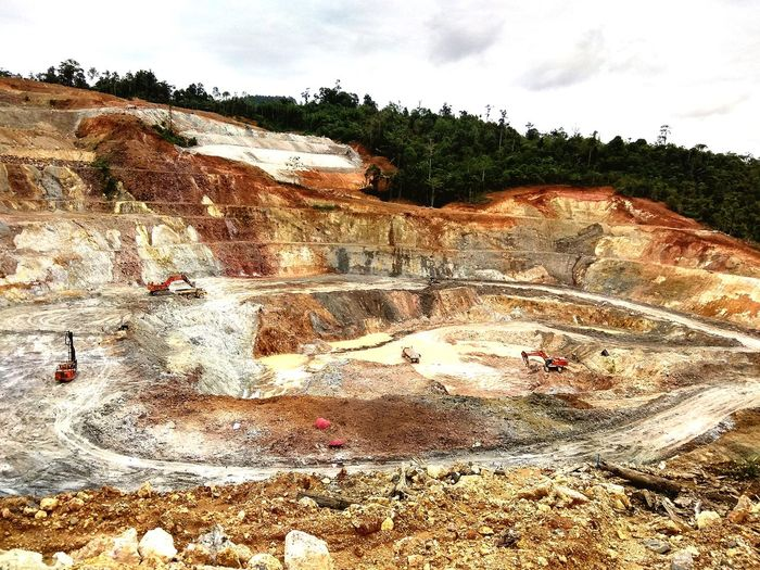 Gold Mine pit or site EyeEmNewHere EyeEm Nature Lover EyeEm Best Shots Mining Site Modern Workplace Culture Tree Sky Landscape Cloud - Sky Sand Dune