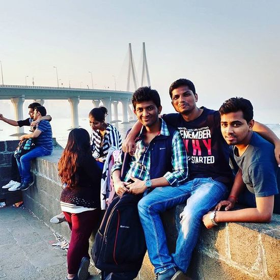 Dassaumen Saumendas Saumen Das Sdas Dass People NewYear Happynewyear Newyear2016 Funwithfriends Celebration Roadtrip Mumbai Bandra Bandstand Bridge Sea Seaview