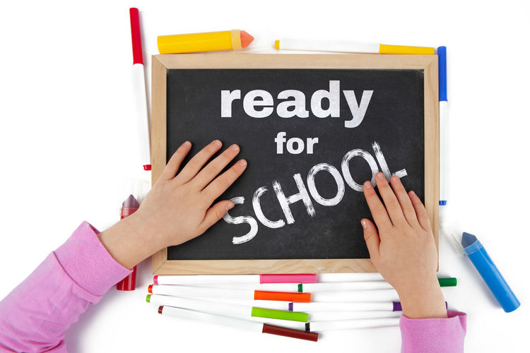 Design Holding Isolated On White Back Background Black Blackboard  Board Chalkboard Child Childhood Childs Hand Concept Conceptual Concern Education For Girl Isolated Issues Let's Letters Message Ready School Spanish Spanish For Kids Talk Text To  Top View Typography Unrecognizable Person White Writing Young