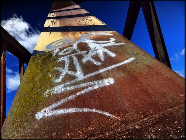 Graffiti Art Graffiti Art Effects & Filters Hüpapics Red Yellow Blue Bridge Kunst Ist Was Du Daraus Machst EyeEm Best Shots