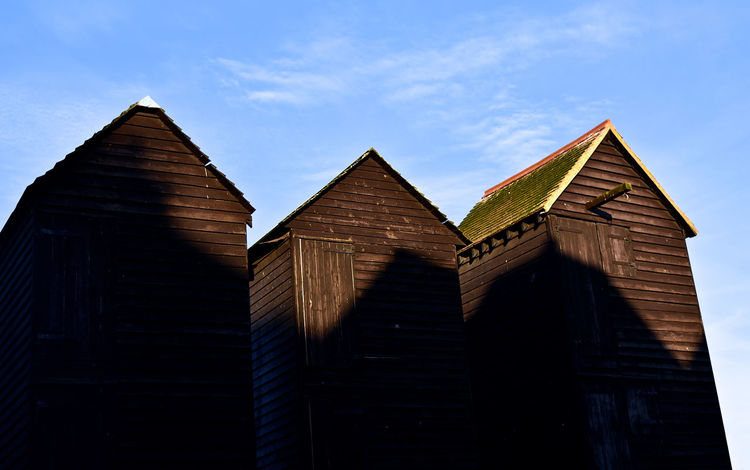 Architecture Blue Sky Building Exterior Built Structure Clouds Clouds And Sky Day Fishing Fishing Village Low Angle View No People Outdoors Photographer Sky Wood Wooden Texture