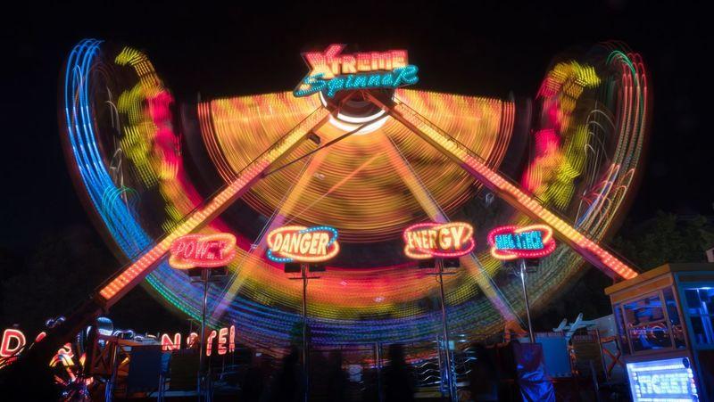 Carusel Carusel Long Exposure Panasonic  Gh5 Illuminated Night Arts Culture And Entertainment Amusement Park Amusement Park Ride