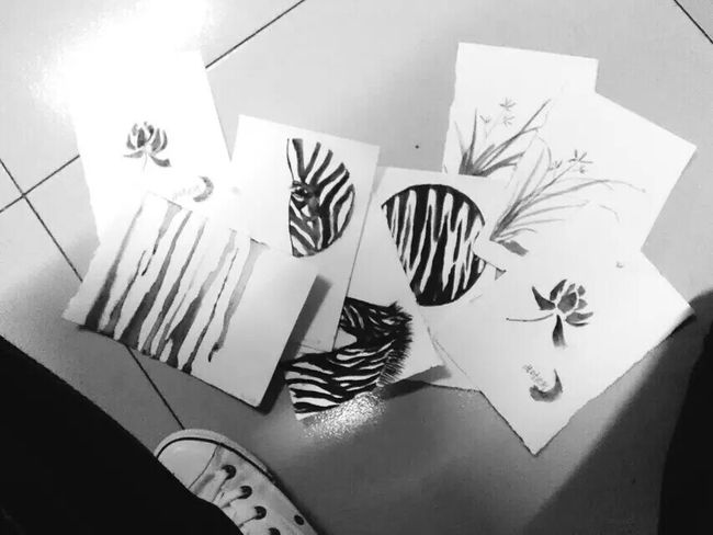 Blackandwhite My Drawing Water Colors My Freetime !