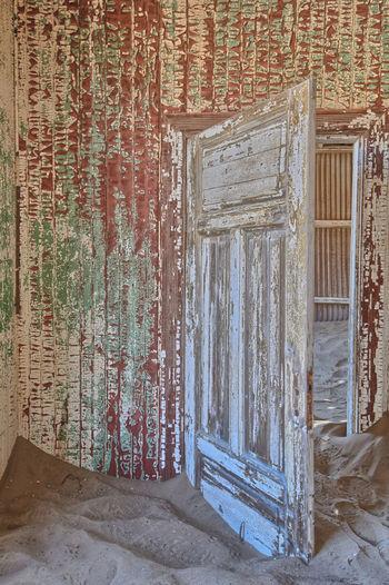 Old door of abandoned building