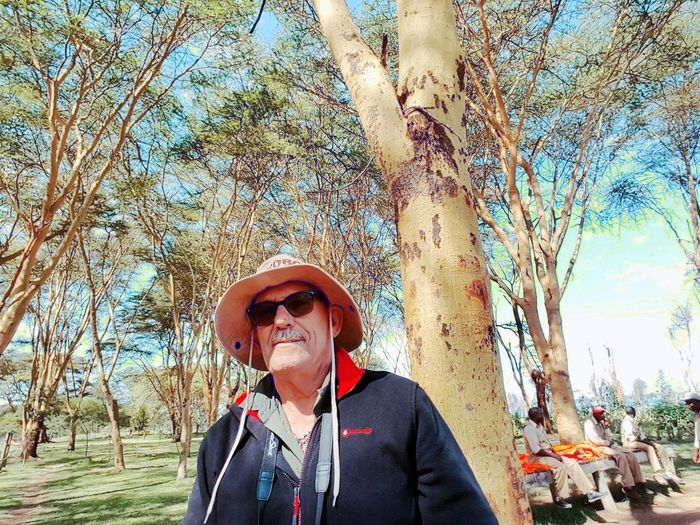 eucaliptos Real People One Person Day Front View Outdoors Portrait Tree Looking At Camera Lifestyles Happiness Smiling Sky Nature