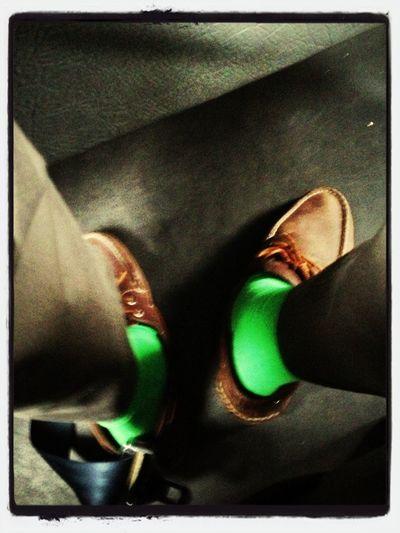 Green socks, green pockets