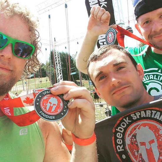 Spartan sprint Canada. My 71st OCR and first trifecta of 2015. 1st OCR of the weekend Ocr Ocrunited Ocrgear Spartansprint Spartanracecanada Teamcorepower Eatnuttzo Hyletecompeteteam Buffalo Buffalony Wnyocrfreaks Canada Ontario Brimacombe Trifecta Inov8 Skins Cepcompression