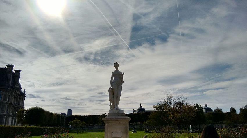 Statue Cloud - Sky Sculpture Outdoors Sky Day City Sun No People Dramatic Sky