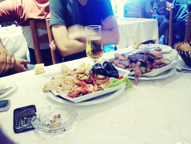 Dinner with friends Bahja Celtia Beer Mezza