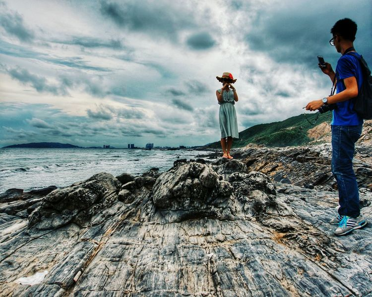 People Of The Oceans Evening Time Apart Coastline First Eyeem Photo惠东县海岸 Feel The Journey