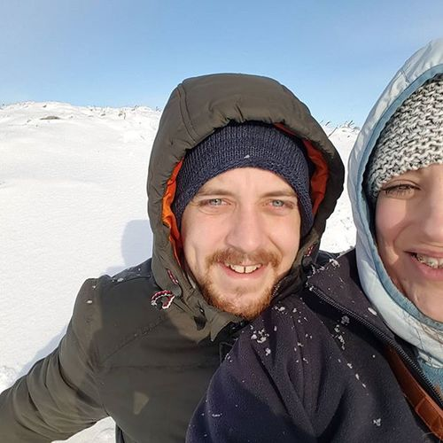 Fun in the snow with this nugget!! ❤❄❄❄🍉 Snow Adventure Bluesky Clearskys Adorable Thisguy PrettyEyes BlueEyes Us Happyday Perfect