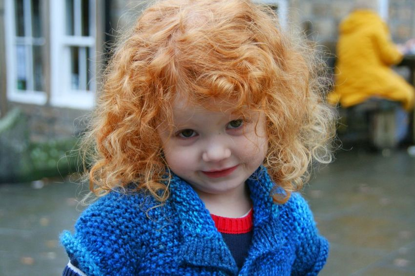 Childhood Child Portrait Girls Curly Hair Beauty Beautiful Girl