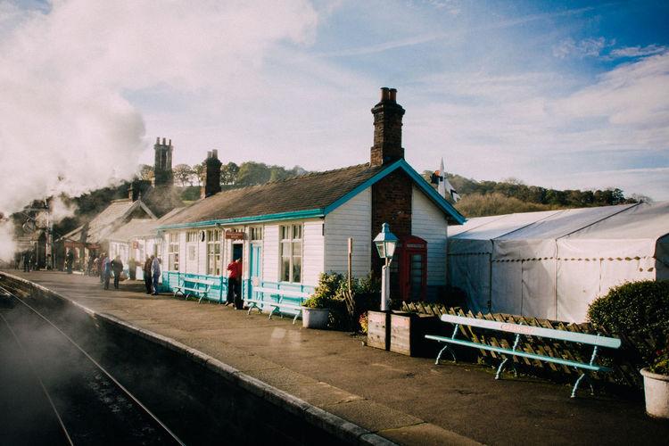 Architecture Building Exterior Built Structure House Steam Train Yorkshire Yorkshire Dales Yorkshire Rail