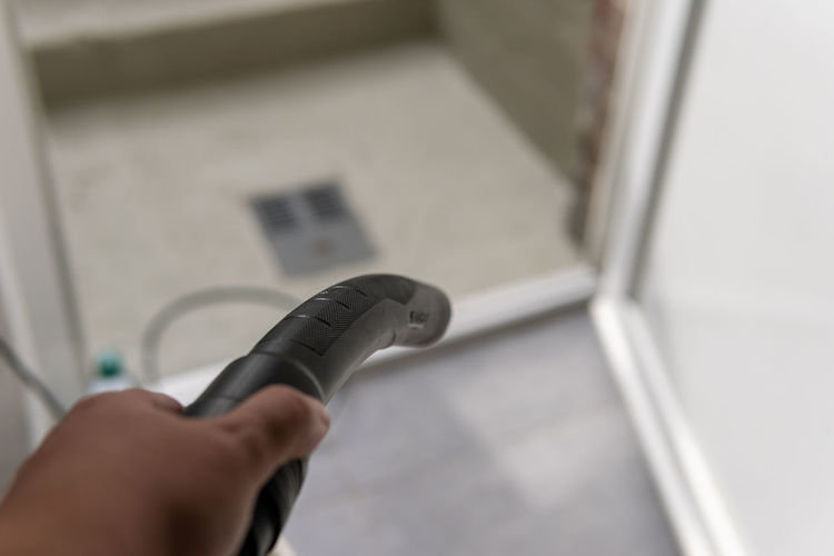 Close-up of person working