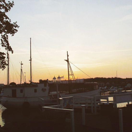 Sunset Sky No People Built Structure Architecture Building Exterior Outdoors Silhouette Nature Nautical Vessel Scenics Mast Tree Beauty In Nature Day Togetherness Eyem EyeEm Eyeemlearning EyeEmNewHere Oskarshamn