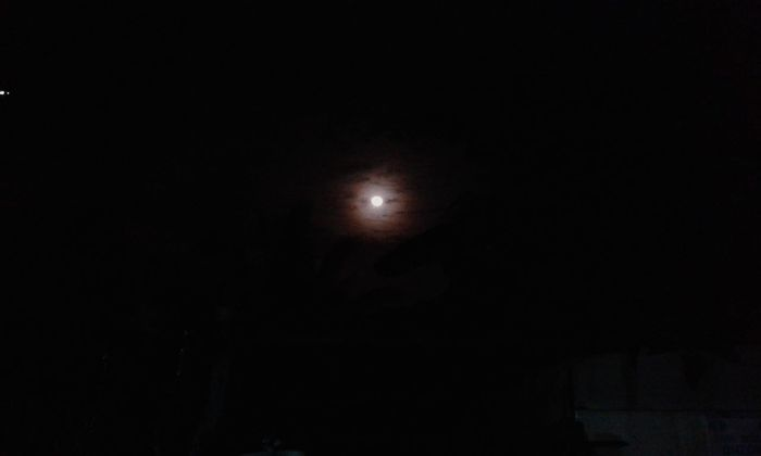 Just now, Yehey :) Moon Night Outdoors Nature