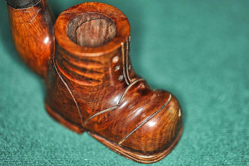 Close-up of wooden shoe in floor