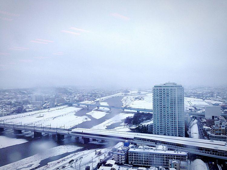 Tamagawa River Covered in Snow ❄ Winter Sky Silent Moment Riverfront Cold Outside Window View Futakotamagawa, Setagaya-ku Tokyo,Japan